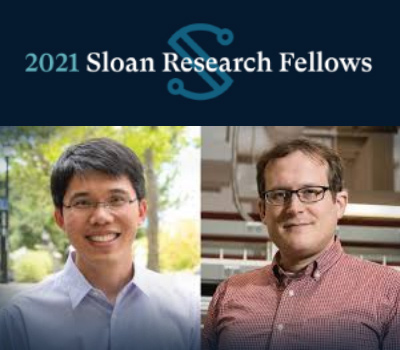 Gao and Hutzler Receive 2021 Sloan Fellowships