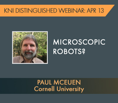 KNI Distinguished Webinar with Paul McEuen